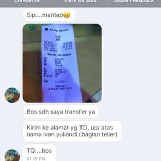 Testimony.. Thxs Agan Yg Di Bank Index Celindo 🙏