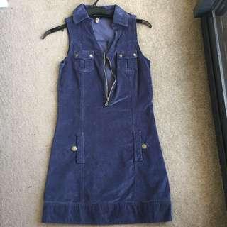 Vintage Corduroy Dress SIZE 36 Size S