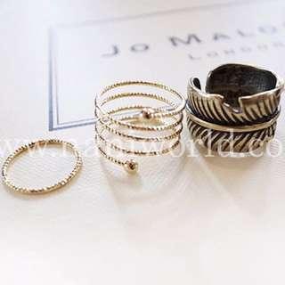 歐美復古造型三入戒指