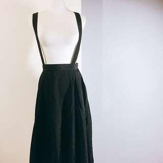 (🇯🇵日本代購)日系日牌Another Edition限量款風衣材質背帶洋裝背帶可拆黑裙 全新 三件含運