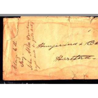 1859-61 - Antique - Civil War Era Two #26 on Cover Mailed to Hartfort