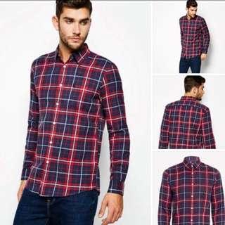 Jack Wills Salcombe LW Flannel Check Shirt 格仔T-shirt 上衣 襯衫 (XS)