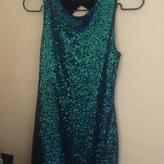 H&M full sequined dress