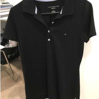 Tommy Hilfiger Women Classic Fit Polo in Black (Size S)