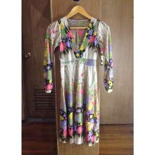 Flowery Midi Dress