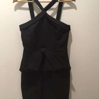 Honey & Beau Little Black Dress (Peplum)