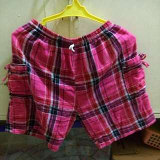 Hot Pink Checkered Shorts Sale Item