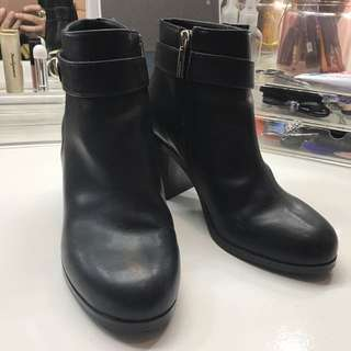Topshop Heeled Ankle Boots (Black)