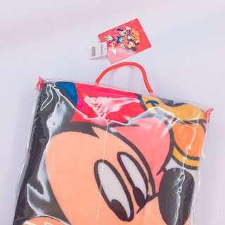 🛫((絕版))香港迪士尼保暖毯+透明收納提袋