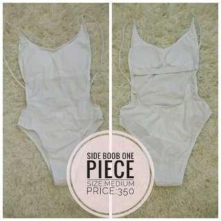 Side Boob One Piece White