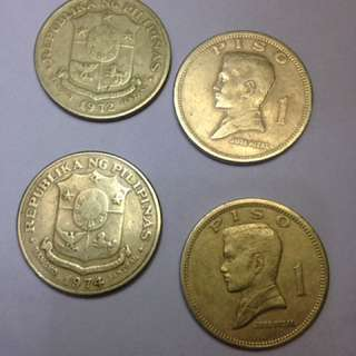 Piso 1972 - 1974 Old Coin