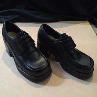 Black Vintage Leather Shoes