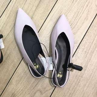 H&M 一字帶/後帶鞋(極新)