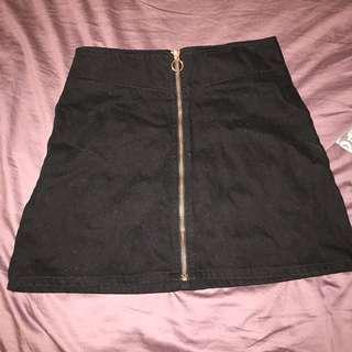 Black & Rose Gold Mini Skirt
