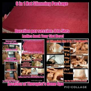 6 In 1 Hot Slimming Body Package Discount Voucher For Sale