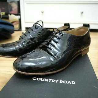 Quicksale! Country Road Patent Leather Oxford Shoes 36