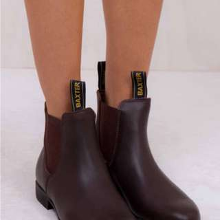 BAXTER BOOTS NEW $RRP129 BROWN LEATHER AU 10 RM