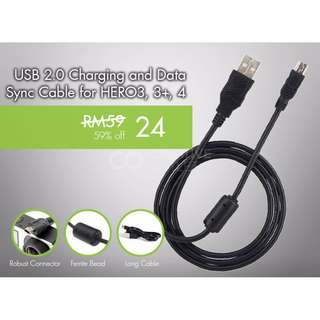 Micro USB Charging and Data Sync Cable for HERO3, 3+, HERO 4