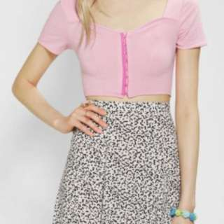 Neon Moon Cropped Top Pink