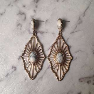 Gold and Marble earrings