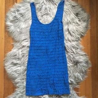 Miss Shop Ribbed Sleeveless Blue Dress (8)