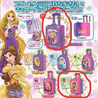 迪士尼公主行李箱扭蛋