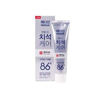 《全新》愛茉莉 Median 麥迪安 86%強效淨白去垢牙膏 120g #薄荷