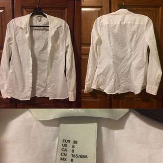 H&M Formal White Shirts