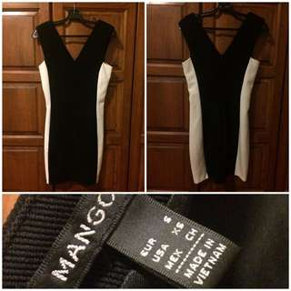 MNG Formal Black&White Dress