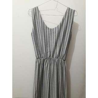 Gray Stripes Jumpsuit