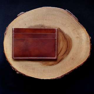 Handmade Genuine Full Grain Leather Card Holder | Handcrafted | Handstitched | D44