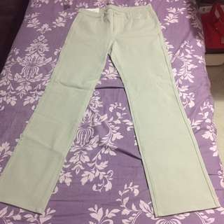 全新 Uniqlo 杏色卡其色直腳褲 Beige Straight Pants