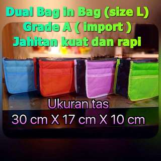Dual Bag In Bag - Korean Dual Bag - Bag Organizer