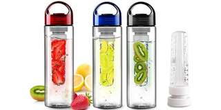 TRITAN WATER BOTTLE WITH FRUIT INFUSER - TRITAN PLASTIC FRUIT JUICE