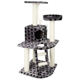 Cat Scratching Poles Post Furniture Tree House Condo Black Grey