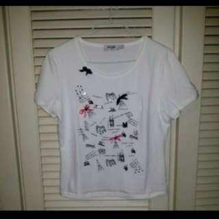 韓版白色迷人T恤