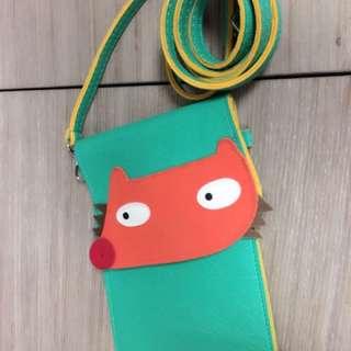 手做可愛狐狸手機包#五月購物免費送