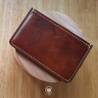 Handmade Genuine Full Grain Leather Card Holder | Handcrafted | Handstitched | D45