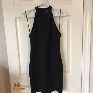 F21 Sleeveless Highneck Bodycon Dress