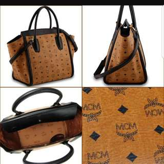 Authentic Mcm Visetos Large Bag