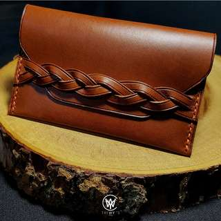 Handmade Genuine Full Grain Leather Card Holder | Handcrafted | Handstitched | D46