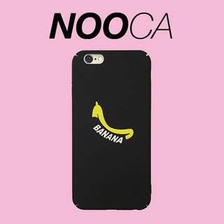 🌟[Instock x 4] IPhone 7Plus Banana Black Case