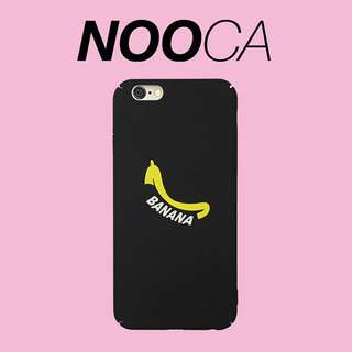 🌟[Instock x 4] IPhone 6Plus Banana Black Case