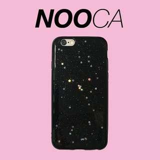 🌟[Instock x 5] IPhone 6Plus Black Glitter Star Case