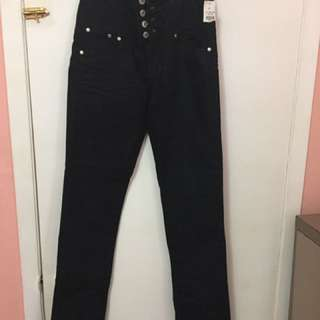 High Waisted Jeans Black