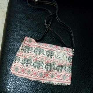 泰國帶回大象圖案包包