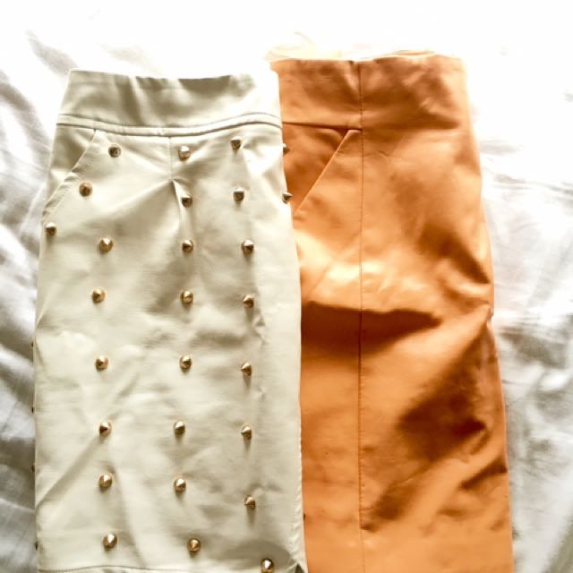 2 for $30 Faux leather mini skirts