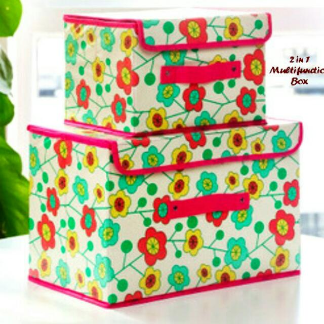 2 In 1 Multifuction Box Organizer Tempat Penyimpanan Serbaguna.