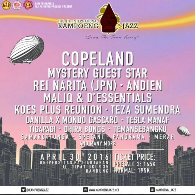 2 Tickets Kampoeng Jazz