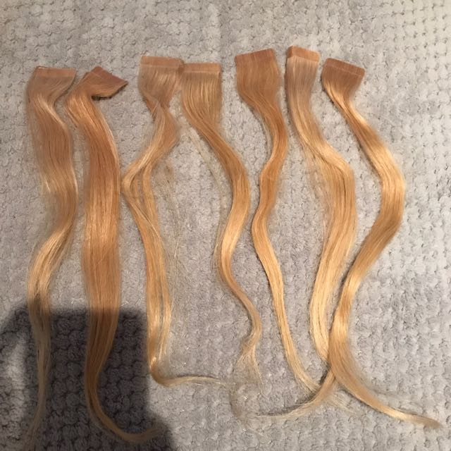 7x Pairs Of Taped Hair Extensions
